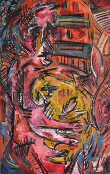 Untitled (Person with a cat)