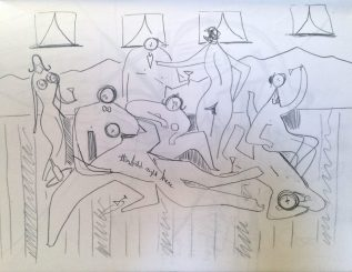 Lush Hussies (concept sketch)