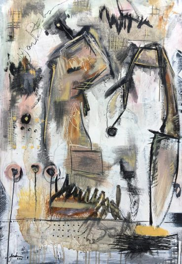 Untitled (Two Abstract Figures)