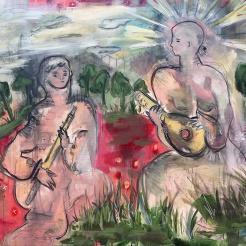 Two Folk Musicians