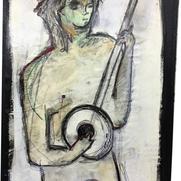 Nude Figure With Banjo