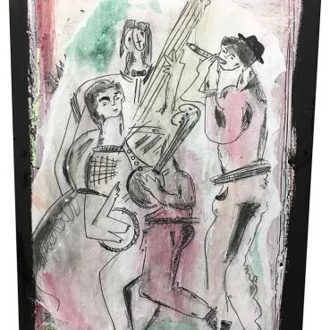 Three Folk Musicians
