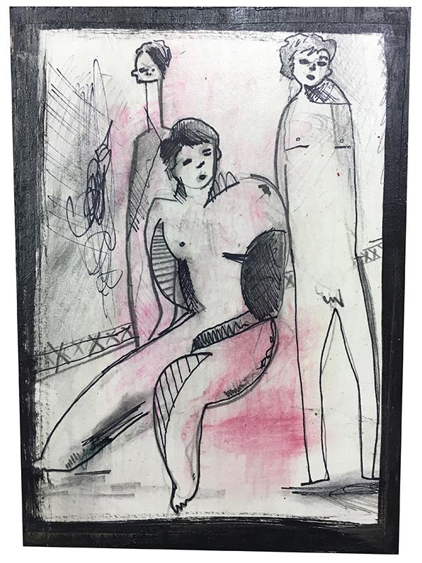 Three Nude Figures