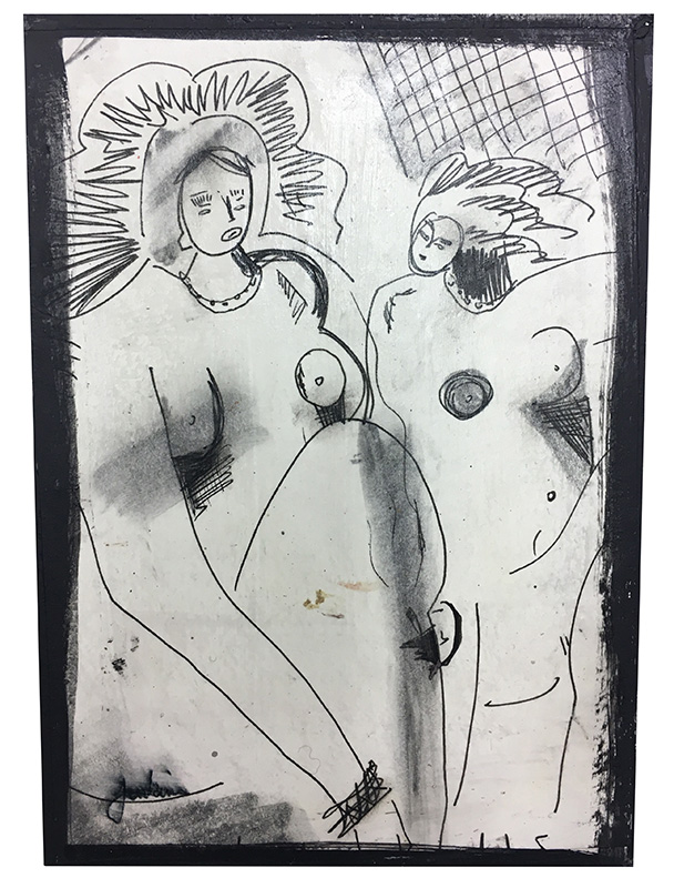 Two Nude Woman (big hair)