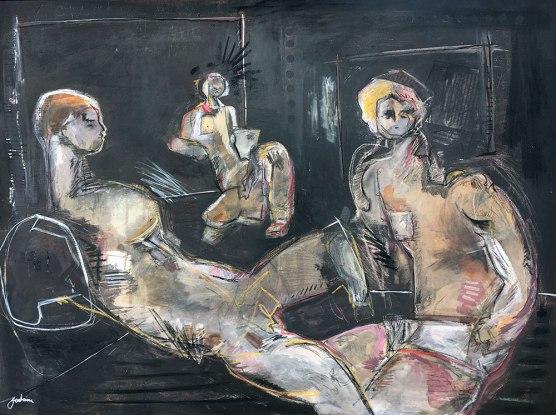 Untitled (Three Figures On Black)