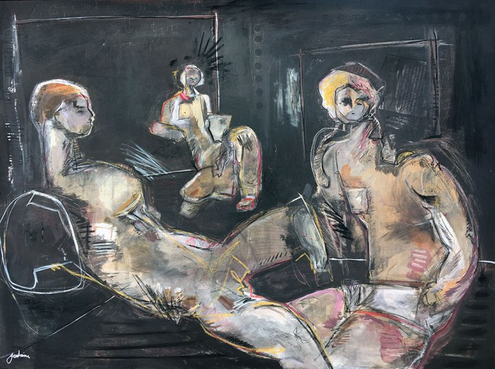 Untitled (Three Figures On Black)