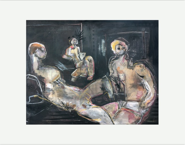 """Untitled (Three Figures On Black)"""