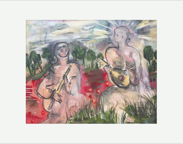 """Two Folk Musicians"""