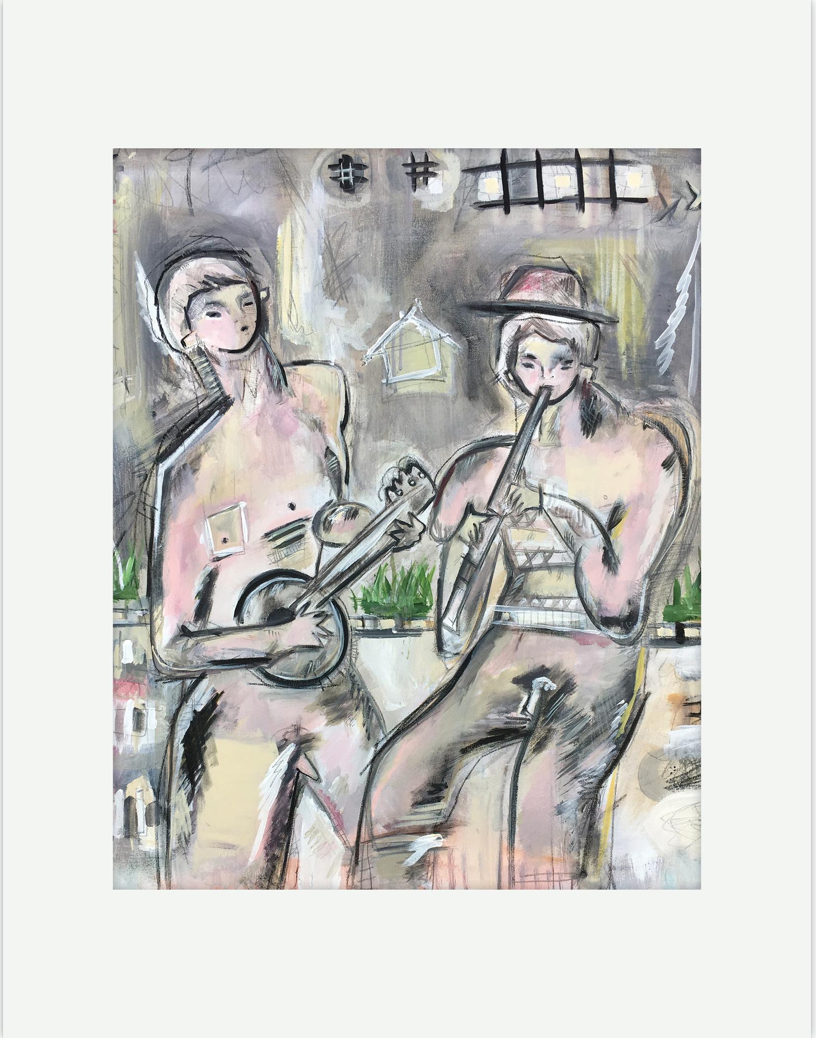 """""""Untitled ( (Banjo & Flute Player)"""""""